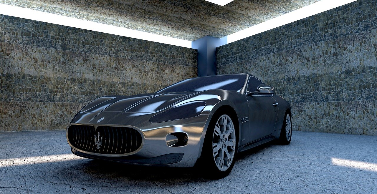 A grey Maseratti which would need supercar insurance